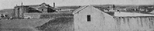Vista panorámica del convento de capuchinos y parte de la villa de Calzada