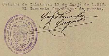 Firma del informe