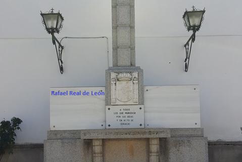 Simulación de dónde aparecía el nombre de Rafael Real en la cruz de los caídos