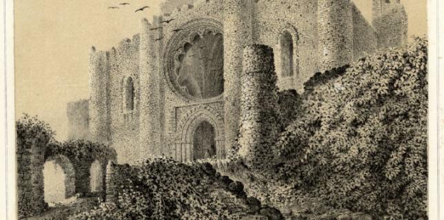 Litrografía del Sacro Convento de Calatrava la Nueva, de F. J. Parcerisa