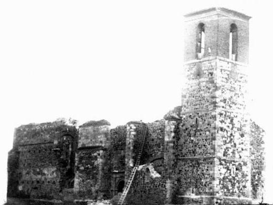 Como quedó la Iglesia de Nuestra Señora del Valle.