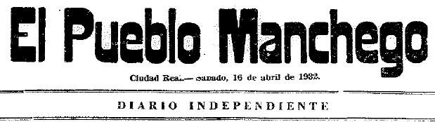 Periódico El Pueblo Manchego, 16 de abril de 1932.