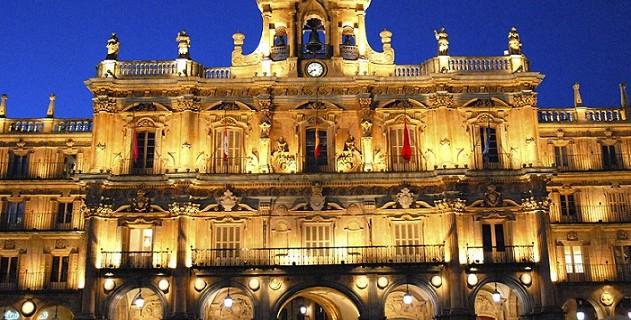 Ayuntamiento de Salamanca situado en la Plaza Mayor.