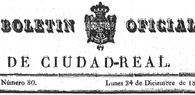 Boletín Oficial de la Provincia de Ciudad Real.
