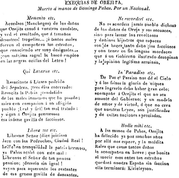 Poema épico dedicado a Antonio García de la Parra, alias Orejita.