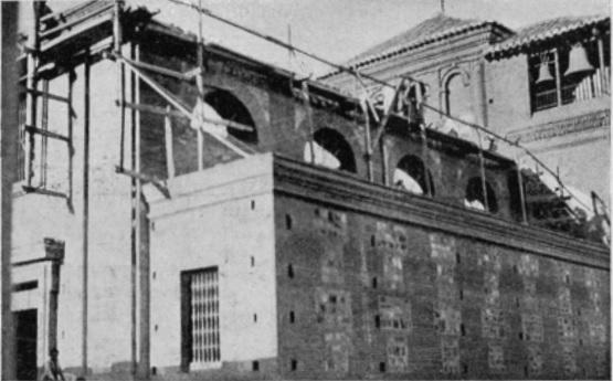 Estado de las obras de la Iglesia parroquial en las obras de 1924.
