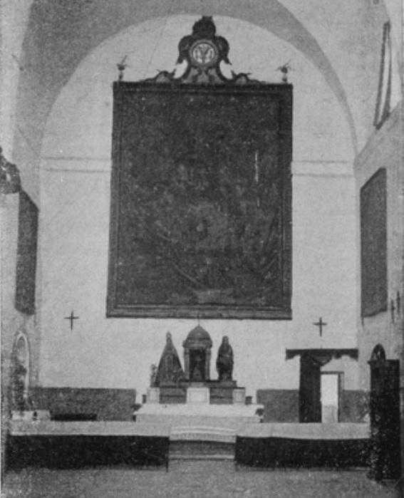 Cuadro del altar mayor de la Iglesia del Convento de Capuchinos de Calzada de Calatrava.