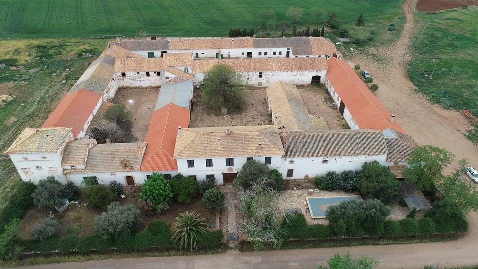 Foto aérea de la finca de Fuente del Moral. © Antonio Campos.