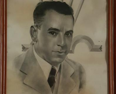 Retrato de Rafael Real, por Gregorio Imedio
