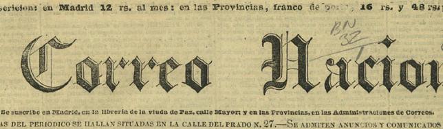 El Correo Nacional fue un periódico publicado en España entre 1838 y 1842.