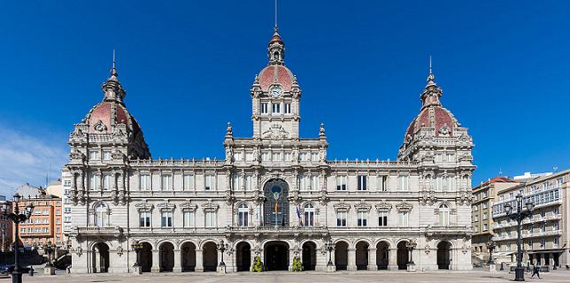 El Palacio municipal, casas consistorial de La Coruña