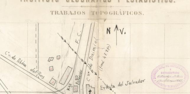 Parte de un fichero digital procedente del IGN sobre la población de Calzada de Calatrava.