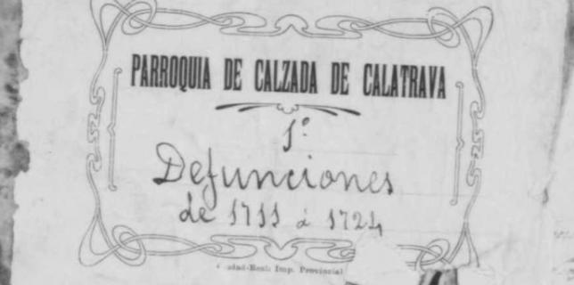 Libro de defunciones de la parroquia de Calzada correspondiente al periodo 1711-1724.