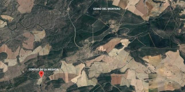 Lugares por donde se llevó a cabo la acción. Cerro del Mortero se encuentra situado al lado de lo que hoy es Umbría de Fresnedas.