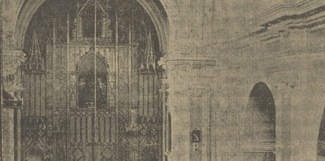 Vista del altar de la Parroquia el día de su consagración.
