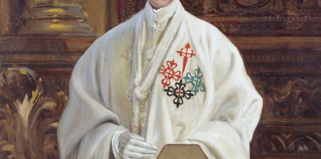 El rey Alfonso XIII con el hábito de las Órdenes Militares.