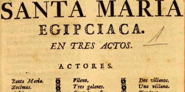 La gitana de Menfis, Santa Maria Egipciaca : comedia famosa