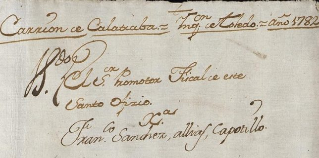 Expediente del Archivo Histórico Nacional sobre el proceso de fe contra Francisco Sánchez (a) Capote.